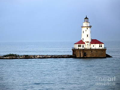 Chicago Lighthouse Art Print by Sophie Vigneault