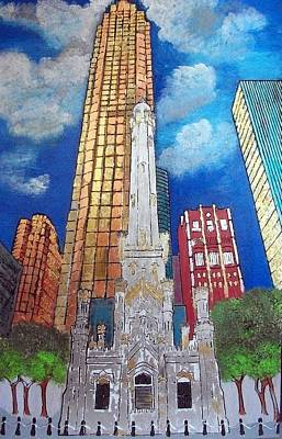 Loop Painting - Chicago Old Water Tower by Char Swift