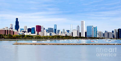 Chicago Panarama Skyline Art Print
