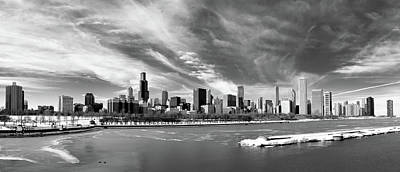Cold Temperature Photograph - Chicago Panorama by George Imrie Photography