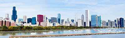Chicago Photograph - Chicago Panorama Skyline by Paul Velgos