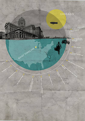 Chicago Wall Art - Digital Art - Chicago Poster by Naxart Studio