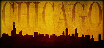 Digital Art - Chicago by Ricky Barnard