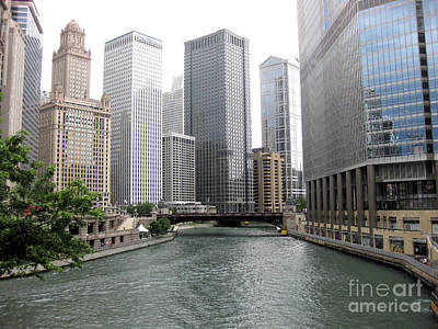 Photograph - Chicago River by Sonia Flores Ruiz