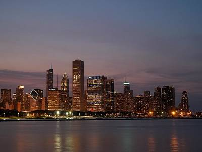 Chicago Photograph - Chicago Skyline At Dusk  by Dan Susek