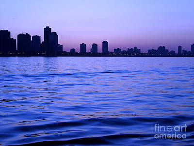 Chicago Skyline At Night Art Print by Sophie Vigneault