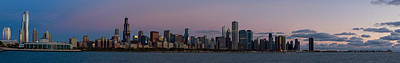 Sky Line Photograph - Chicago Skyline Before Sunrise by Twenty Two North Photography