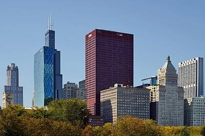 Chicago Skyline From Millenium Park Art Print by Christine Till