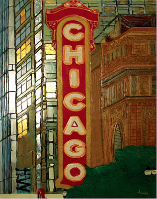 Chicago Theatre Painting - Chicago Theatre by Char Swift