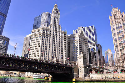 Chicago Wrigley Building Art Print by Dejan Jovanovic