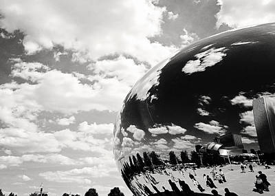 Photograph - Chicago's Cloud Gate by Laura Kinker