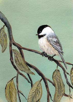 Chickadee Set 10 - Bird 2 Art Print