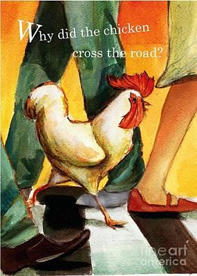 Crosswalk Mixed Media - Chicken by Amanda Brisebois