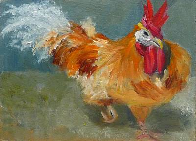 Chicken On The Run Art Print