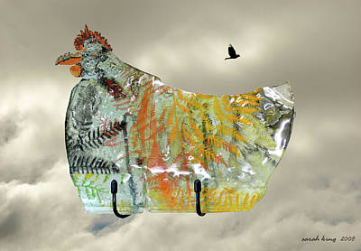 Chicken Pie Art Print by Sarah King