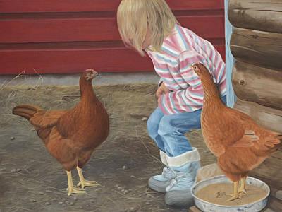 Chicken Talk Art Print