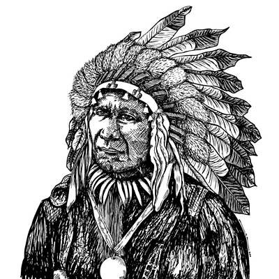 Chief American Horse Art Print by Karl Addison