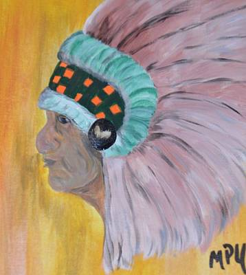 Art Print featuring the painting Chief by Maria Urso