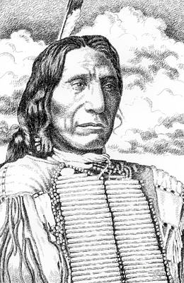 Chief-red-cloud Art Print by Gordon Punt