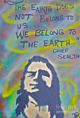 First Amendment Painting - Chief Sealth by Tony B Conscious