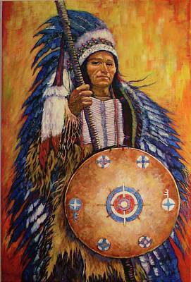Art Print featuring the painting Chief Two by Charles Munn