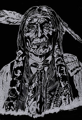 Chief Wolf Robe Art Print by Jim Ross