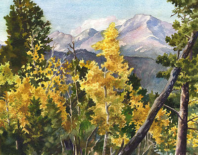 Chief's Head Mountain Art Print by Anne Gifford