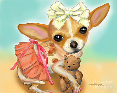 Digital Art - Chihuahua Princess by Catia Lee