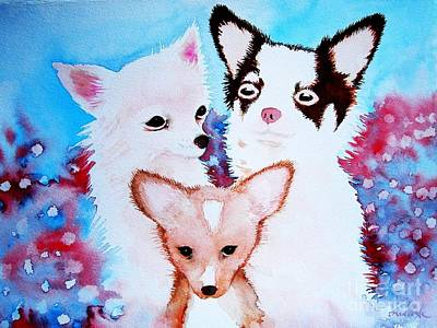 Painting - Chihuahuas by Frances Ku