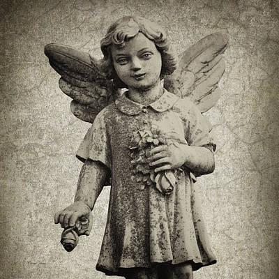 Photograph - Child Angel by Cheryl Davis
