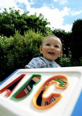 9 Months Photograph - Child Development by Tek Image