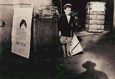 Child Labor, A Newsie, From Original Art Print by Everett