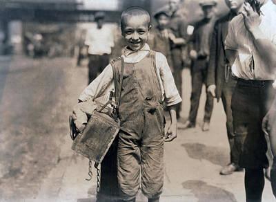 Child Labor, Bootblack Near Trinity Print by Everett