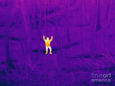 Thermographic Photograph - Child Lost In The Woods by Ted Kinsman
