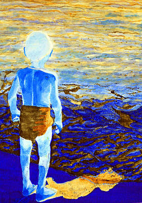 Yemaya Painting - Child Of The Sea 2 by Duwayne Washington