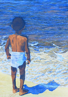 Yemaya Painting - Child Of The Sea by Duwayne Washington