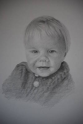 Drawing - Child Portrait by Lynn Hughes