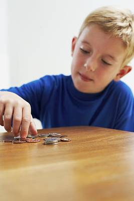Child With Loose Change Art Print by Ian Boddy