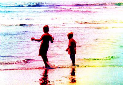 Childhood At The Beach Art Print
