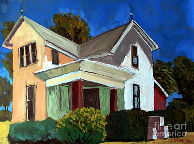 Indiana Landscapes Painting - Childhood Home Plein Air by Charlie Spear
