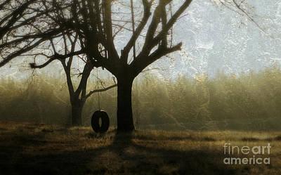 Child Swinging Photograph - Childhood Memories by Benanne Stiens