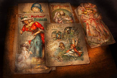 Children - Books - Fairy Tales Print by Mike Savad