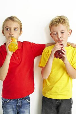 Children Drinking Squash Art Print