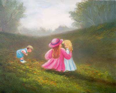 Painting - Children In Meadow by Joni McPherson