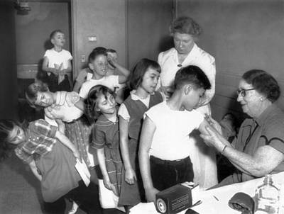 Children Inoculated Against Diphtheria Print by Everett