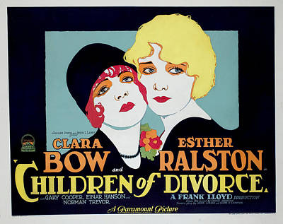 Children Of Divorce, Clara Bow, Esther Art Print
