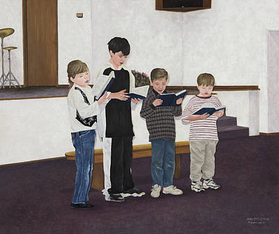 Children Sing Praise Art Print