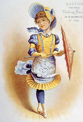 Childrens Fashion, Circa 1890 Art Print