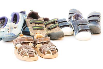 Messy Photograph - Children's Footwear by Tom Gowanlock