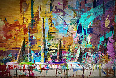 Paint Cans Photograph - Child's Painting Easel by Randall Nyhof